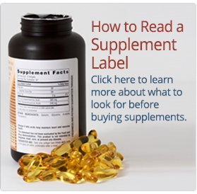 How to read a vitamin label
