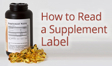How do you read a supplement label